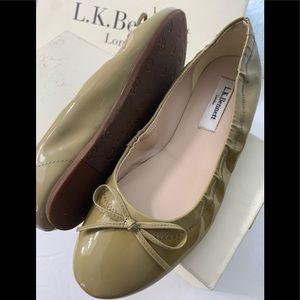 LK Bennett Suki 35 US 5 Clay Patent Leather Wedge
